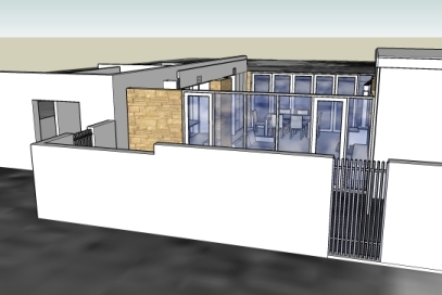 Infill Extension between existing house and office