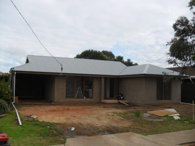 Architectural Home extension at Marion Adelaide: New roof render and windows finished