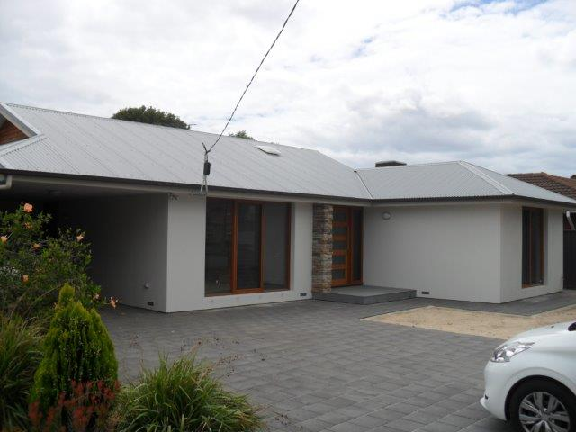 Architectural Home extension at Marion Adelaide: Front of House almost finished
