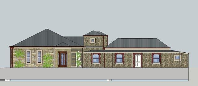 Elevation of Rural Home Addition in Crafers Adelaide