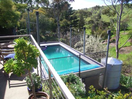 New Balcony and Elevated Swimming pool by Adelaide Architect Grant Lucas